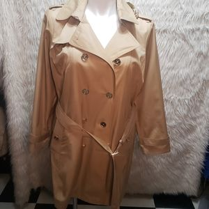 NWOT MK Double Breasted Trench coat SZ XL